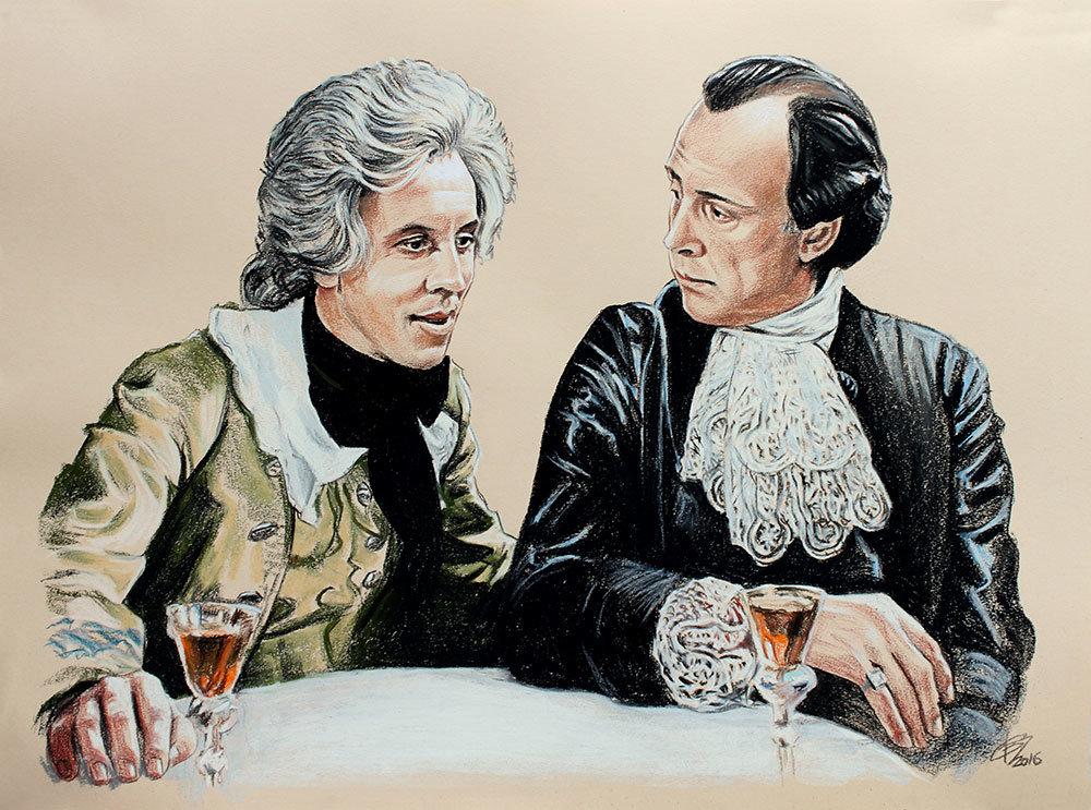 Сальери и моцарт картинки