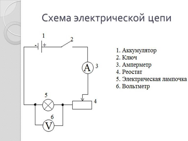 Электрическая цепь пример