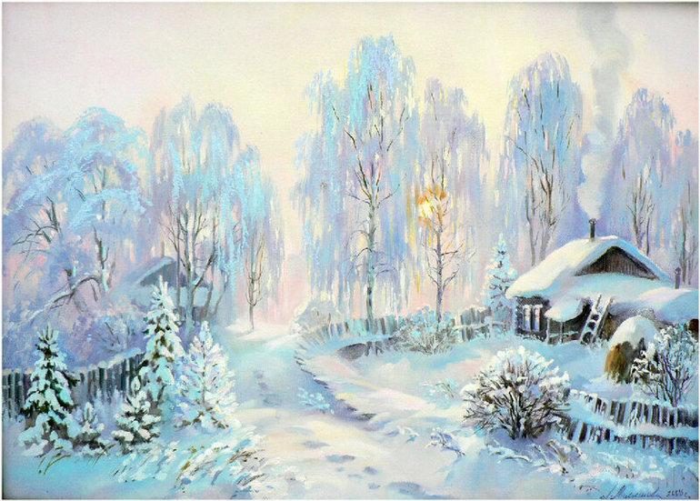 Зимнее утро пушкин анимация