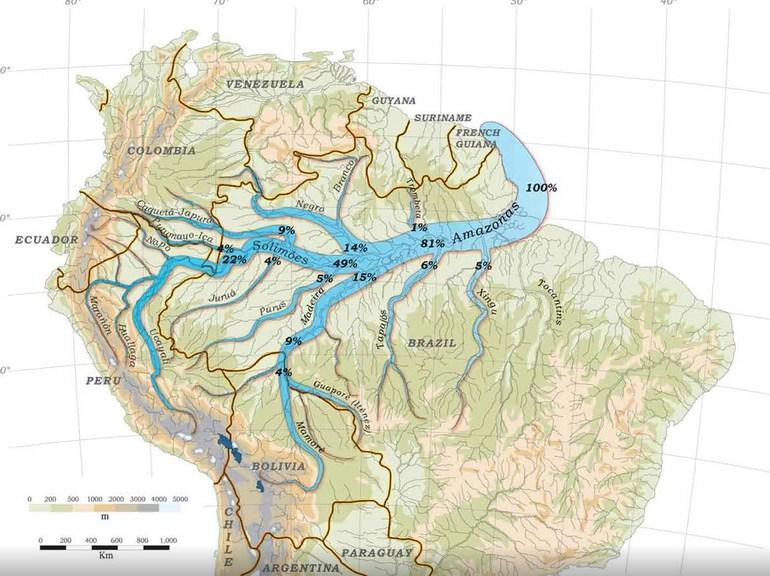 Реки южной америки названия