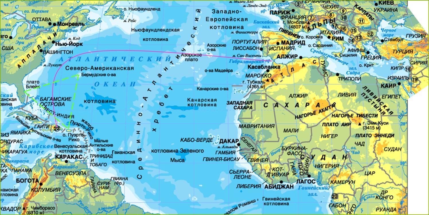 картинки карты атлантического океана демио японский