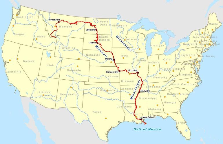 Реки северной америки список с названиями и длиной
