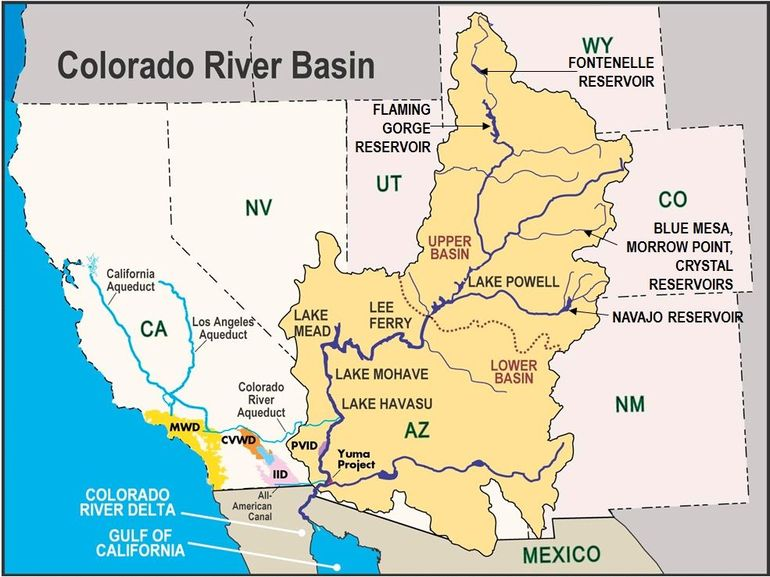 Колорадо река на карте