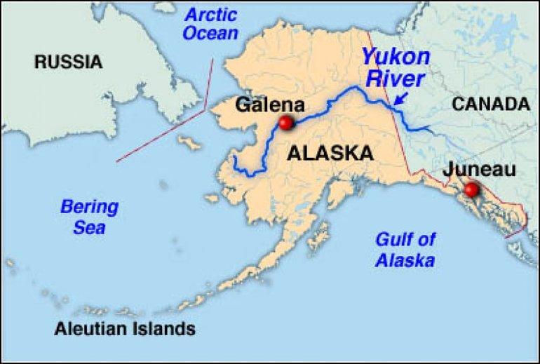 Юкон река на карте