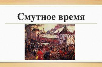 Смутное время на Руси