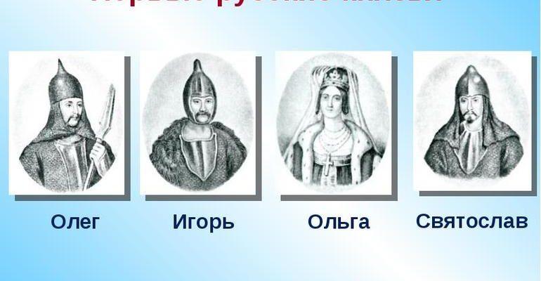 Князья на руси