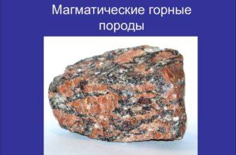 Магматические горные породы