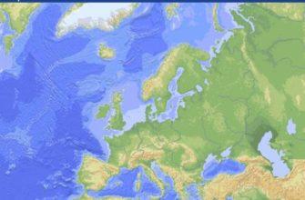 Острова и полуострова зарубежной Европы