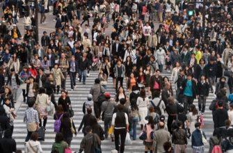 Плотность населения японии
