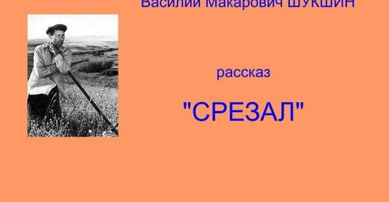 Рассказ «Срезал» Василия Шукшина