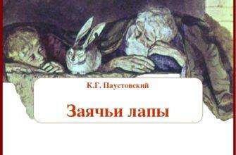 Рассказ «Заячьи лапы» Константина Паустовского