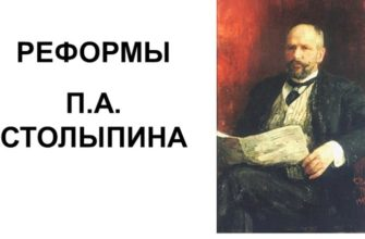 Реформы Столыпина