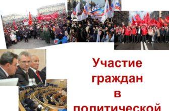 Участие граждан в политической жизни