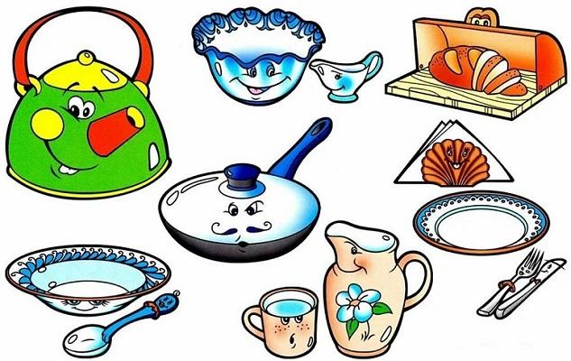 Загадки про посуду для детей (с ответами)