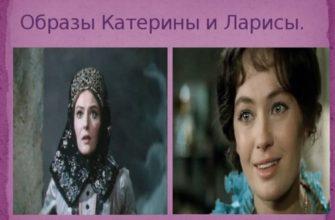 Характеристика Ларисы Огудаловой и Катерины Кабановой