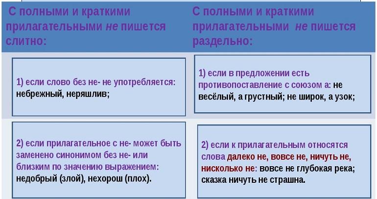 Все правила по русскому языку 8 класс