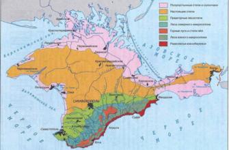 Карта природных зон крыма