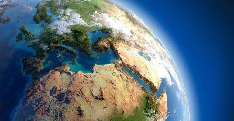 Океаны и материки земли