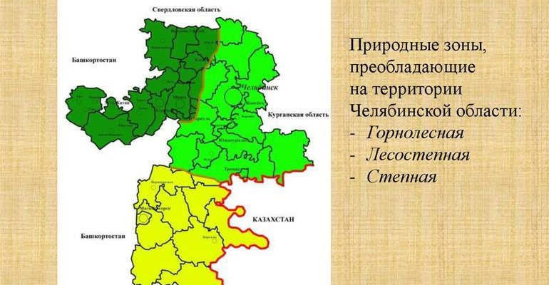 Природные зоны челябинской области