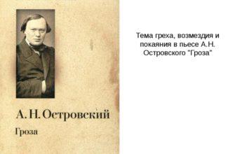 Произведение А. Н. Островского «Гроза»
