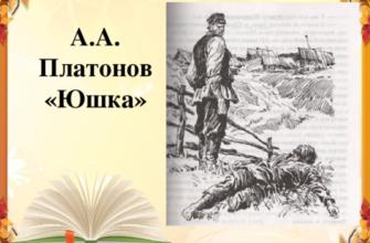 Произведение А. П. Платонова «Юшка»