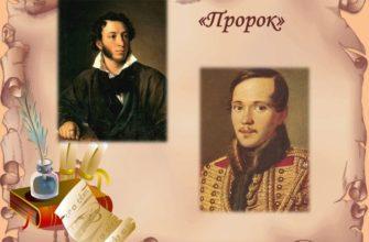 Сравнение двух «Пророков»: Пушкина и Лермонтова
