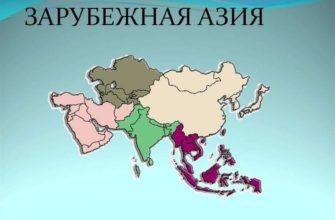 Страны Зарубежной Азии