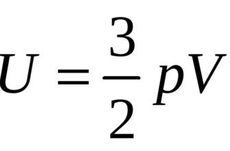 Внутренняя энергия идеального газа формула