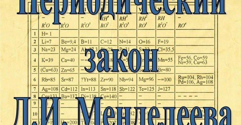 Значение периодического закона Менделеева
