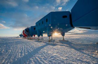 Действующие научные станции «Мирный» и «Восток» в Антарктиде