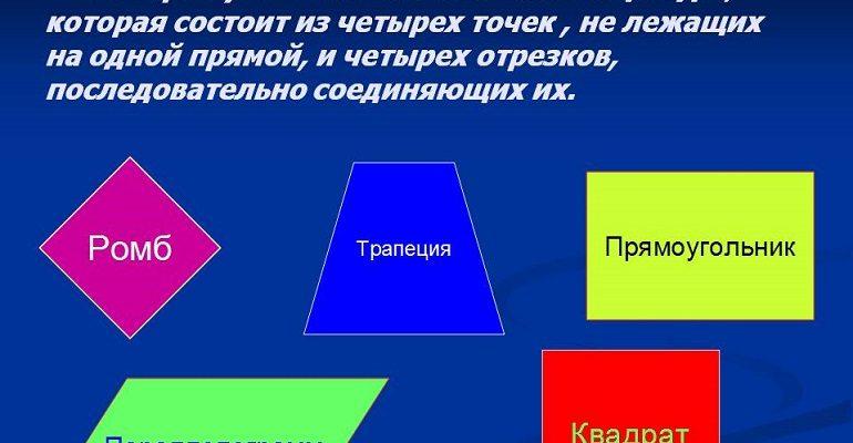 """Контрольная работа по геометрии 8 класс, """"Четырехугольники"""""""