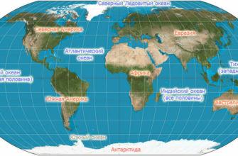 Океан на карте
