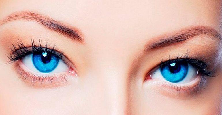 Стихи про голубые глаза