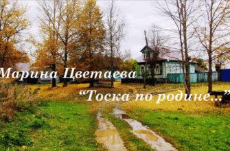 Стихотворение Марины Цветаевой «Тоска по родине давно»