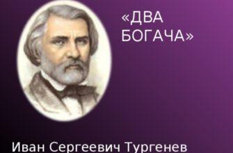 Стихотворение Тургенева «Два богача»