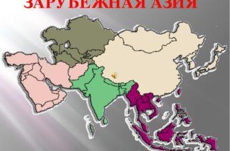 Границы субрегионов зарубежной азии
