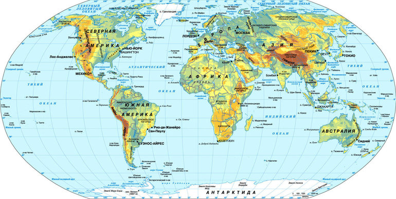 Сколько морей в мире