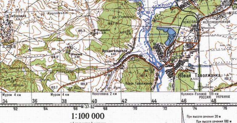 Сравнение плана и карты