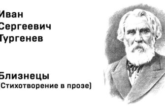 Стихотворение Тургенева «Близнецы»